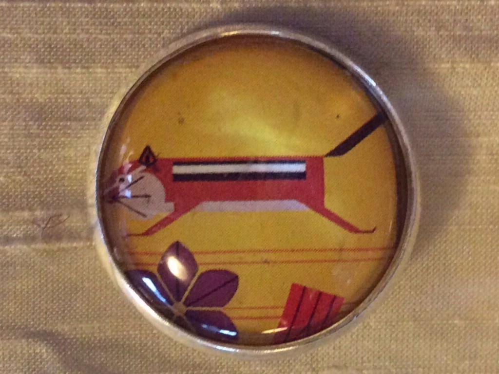 Charley Harper Chipmunk Rodent Sewing Button 1 Mid Century Modern Charles CH234