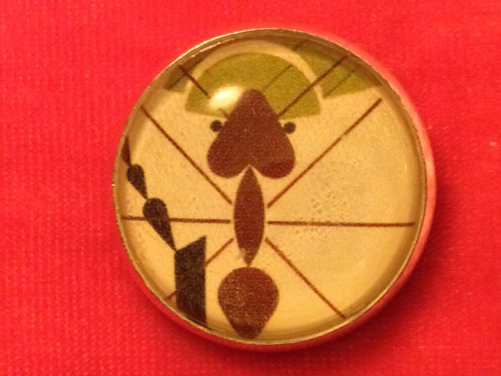 Charley Harper Ant Insect Bug Leaf Sewing Button 1 Mid Century Charles CH240