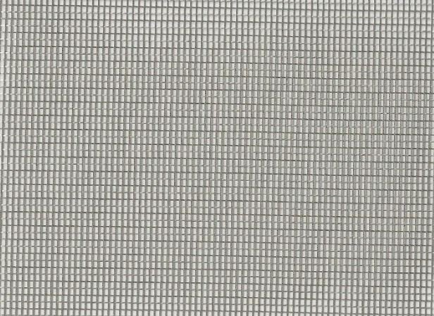 Clarence House Stainless Steel Sheer Net Grid Fabric Steel Colorway CH326