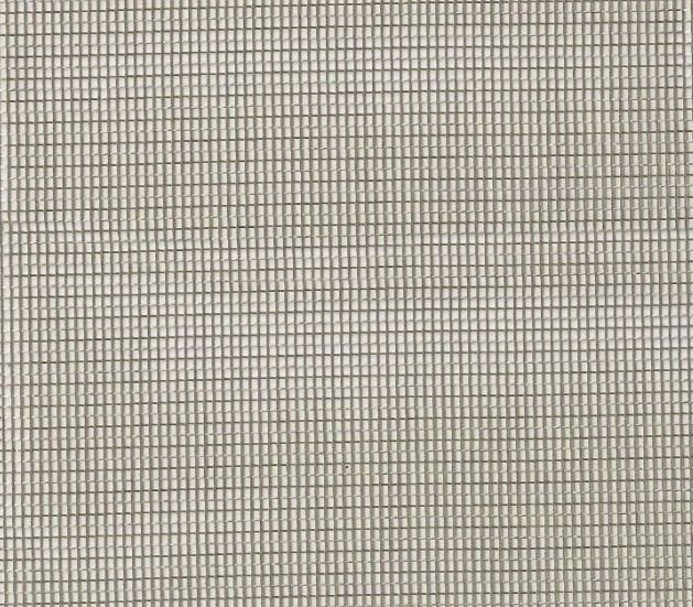 Clarence House Stainless Steel Sheer Net Grid Fabric Burnished Colorway CH328