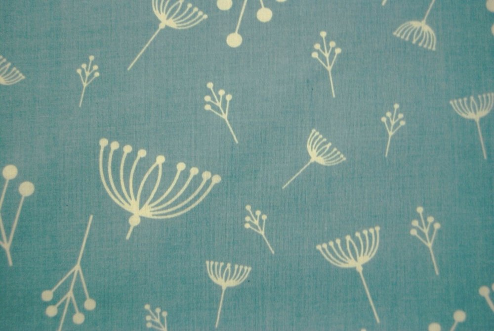 Charley Harper Flower Seed Organic Cotton Fabric Quilt Fabric Charles CHB13