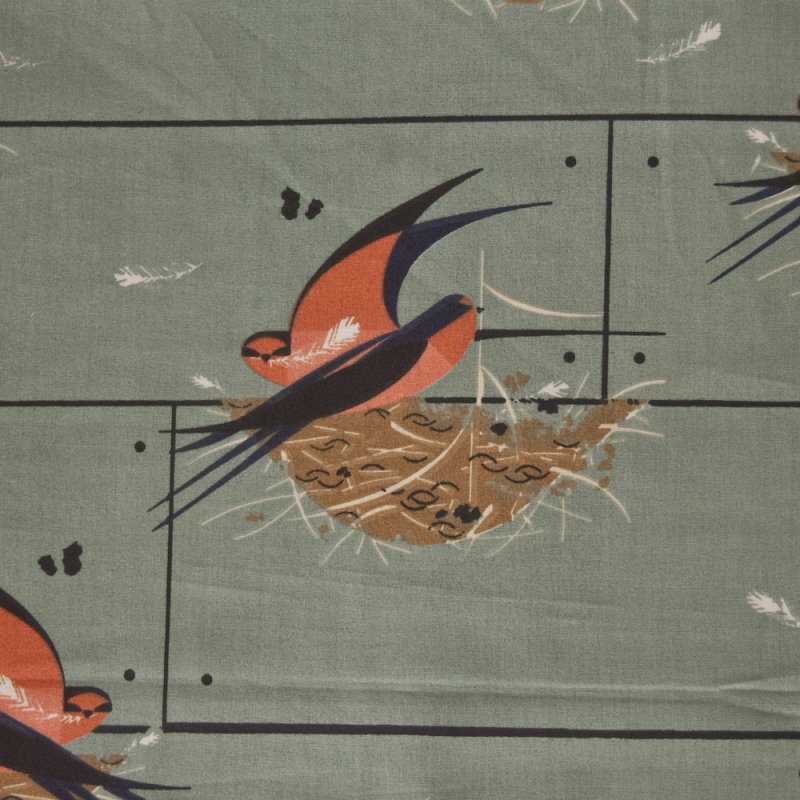 Charley Harper Barn Swallow Birds Organic MCM Mid Century Modernism Abstract Quilting Cotton Fabric CHB30
