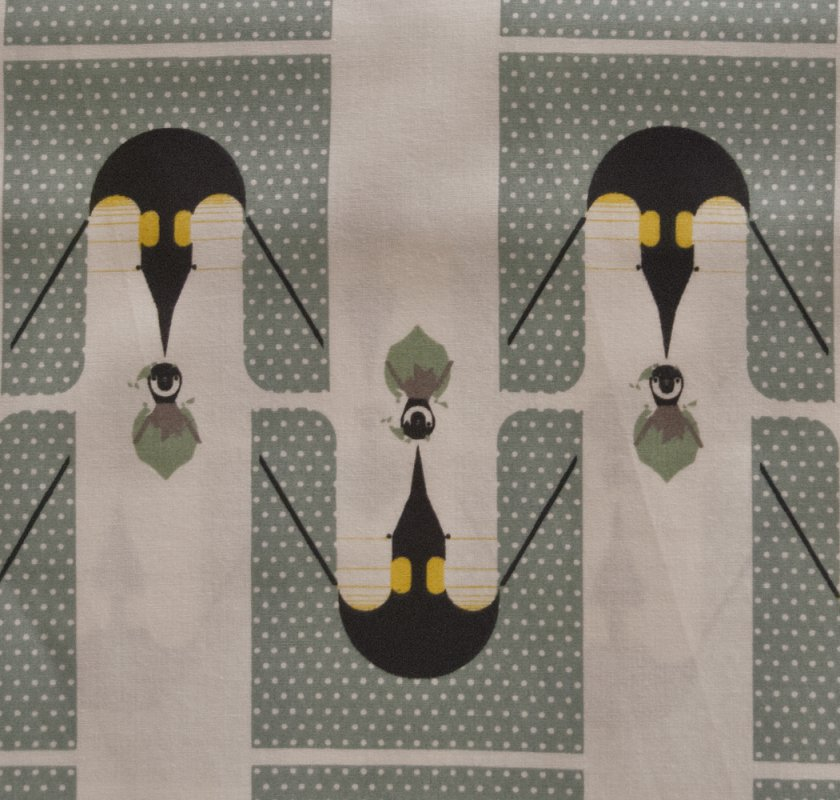 Charley Harper Birthday Penguins Organic MCM Mid Century Modernism Abstract Quilting Cotton Fabric CHB34