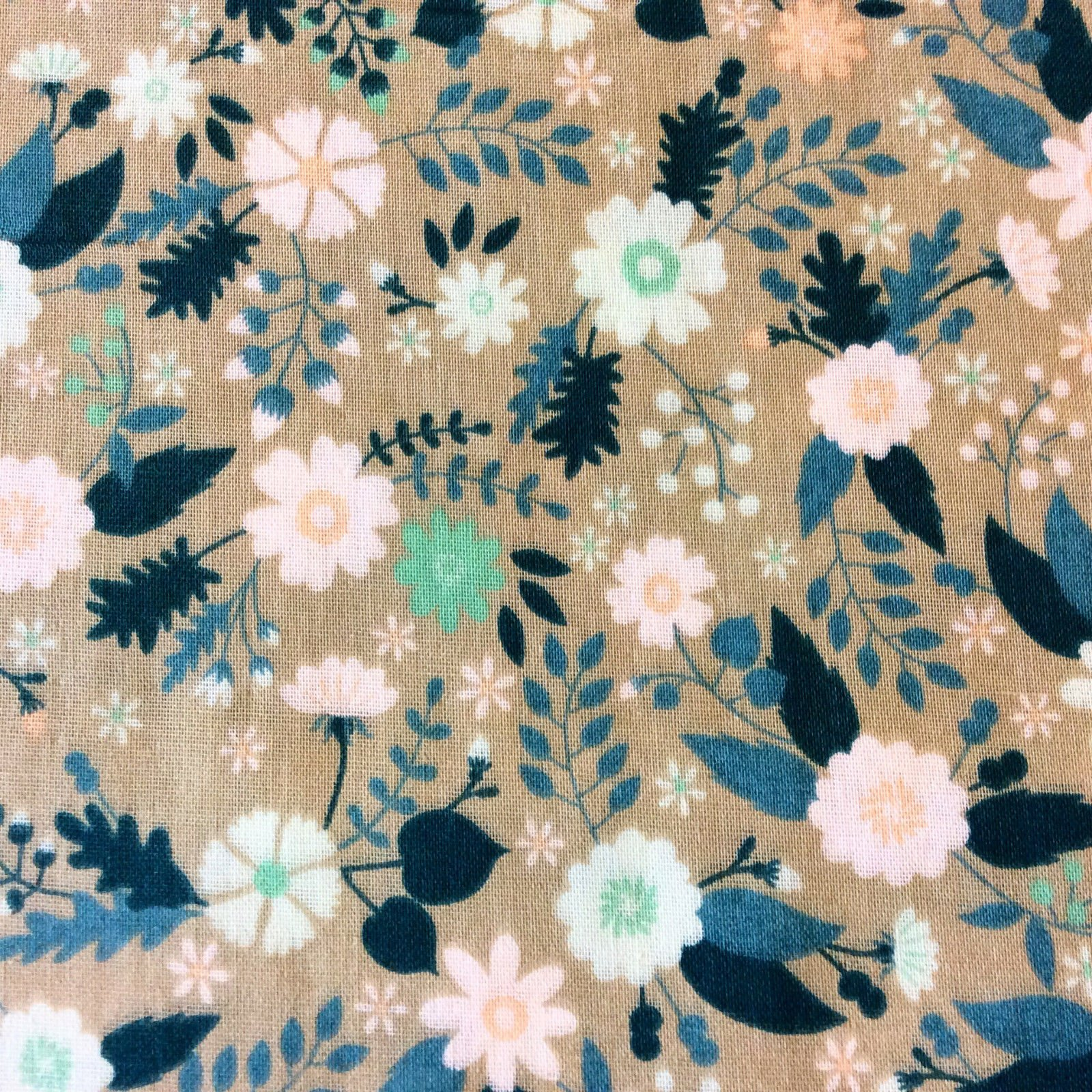 Lovely Double Gauze English Floral Cotton Fabric CHE002