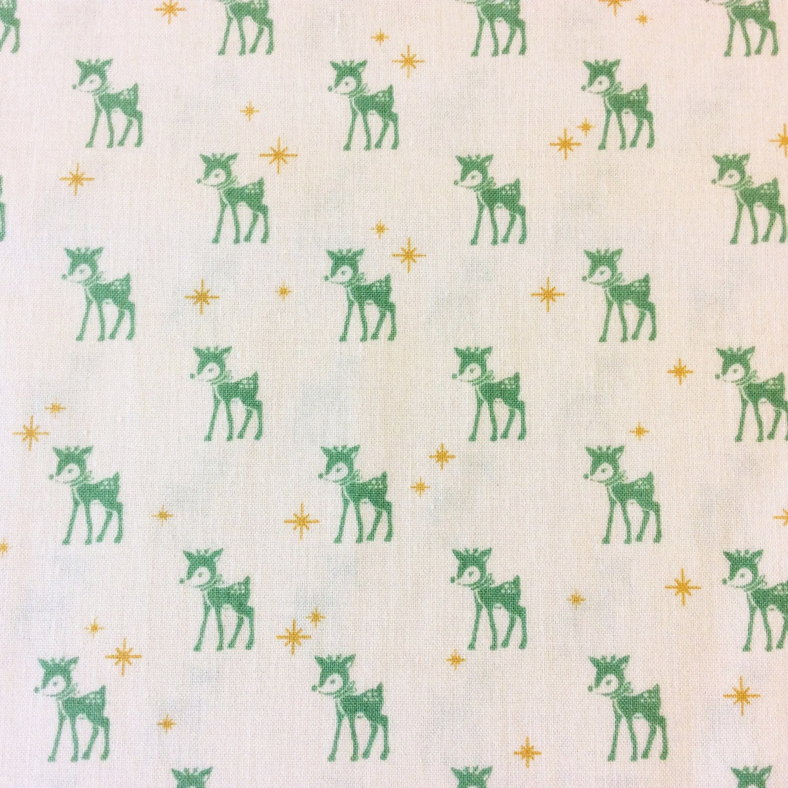 Reindeer Christmas Winter Holiday Star Deer Retro Vintage Look 50's 60's Cute Cotton Quilt Fabric CHE017