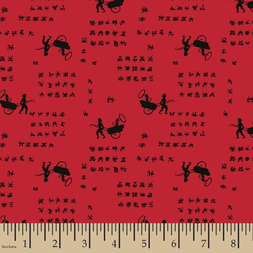 FAT QUARTER Small Wonders of the World CHINA Retro Cotton Quilt Fabric RPFMD344