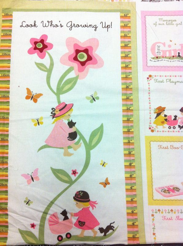 Pnl121 Growth Chart Series Girl Pink Growth Chart Retro Sugar And