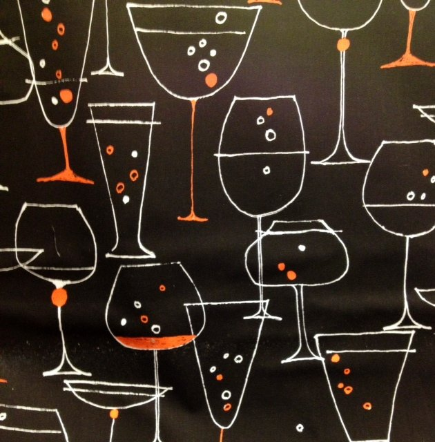Festive Wine Beer Champagne Martini Glasses Bubbles Beverages Cotton Fabric Quilt Fabric CR306