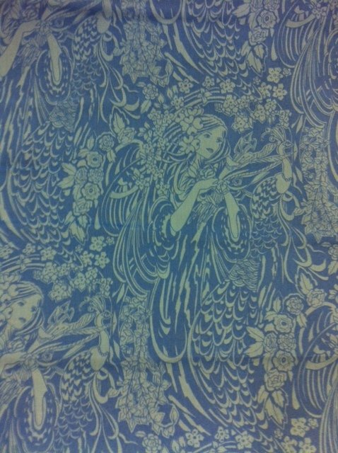 Liberty of London Art Nouveau Maiden Peacock Flowers Cotton Fabric Quilt Fabric CR346