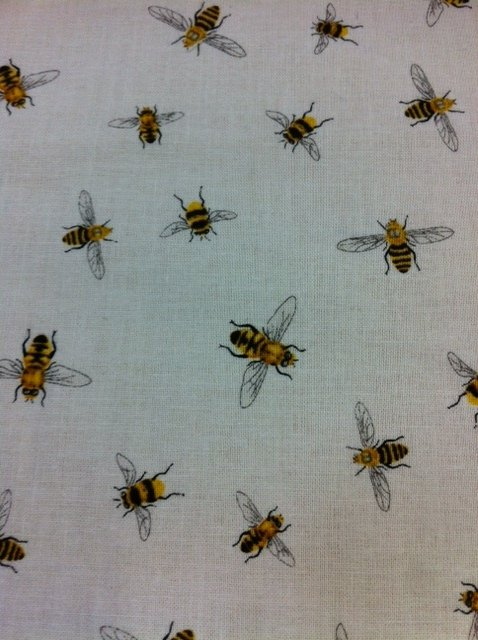 Bee mine! Honey Bee Country French Insect Bugs Cotton Fabric Quilt Fabric CR348