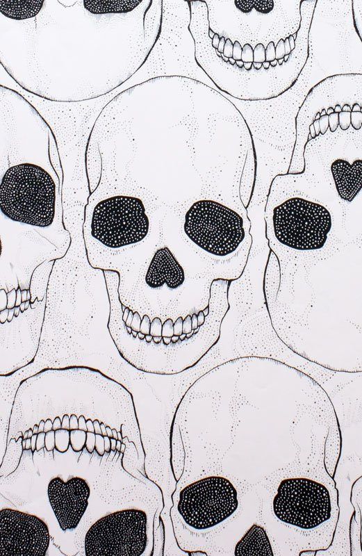 Alas Poor Yorick! Alexander Henry smiling skull fabric Cotton Fabric Quilt Fabric CR502