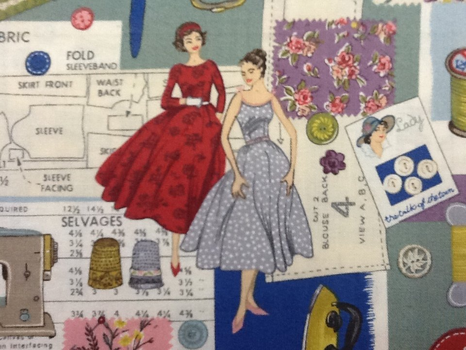 Sew Easy Montage Sewing Pattern Notions Vintage Style Print ... : quilting fabric uk - Adamdwight.com