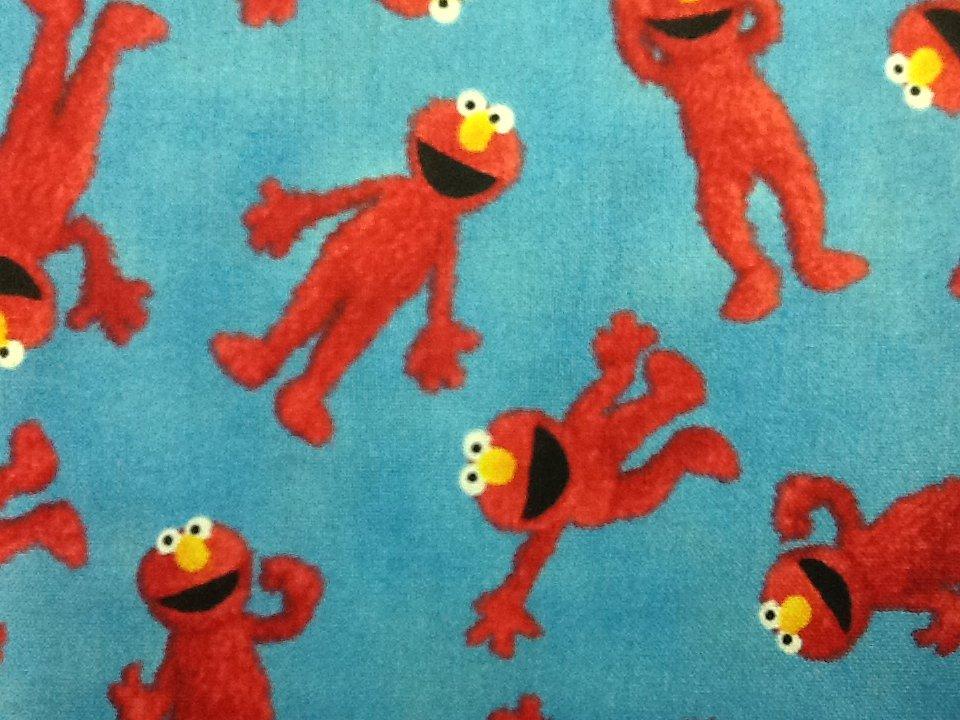 Rare! Discontinued Sesame Street Fabric Tickle Me Elmo PBS Cotton Fabric Quilt Fabric CR418