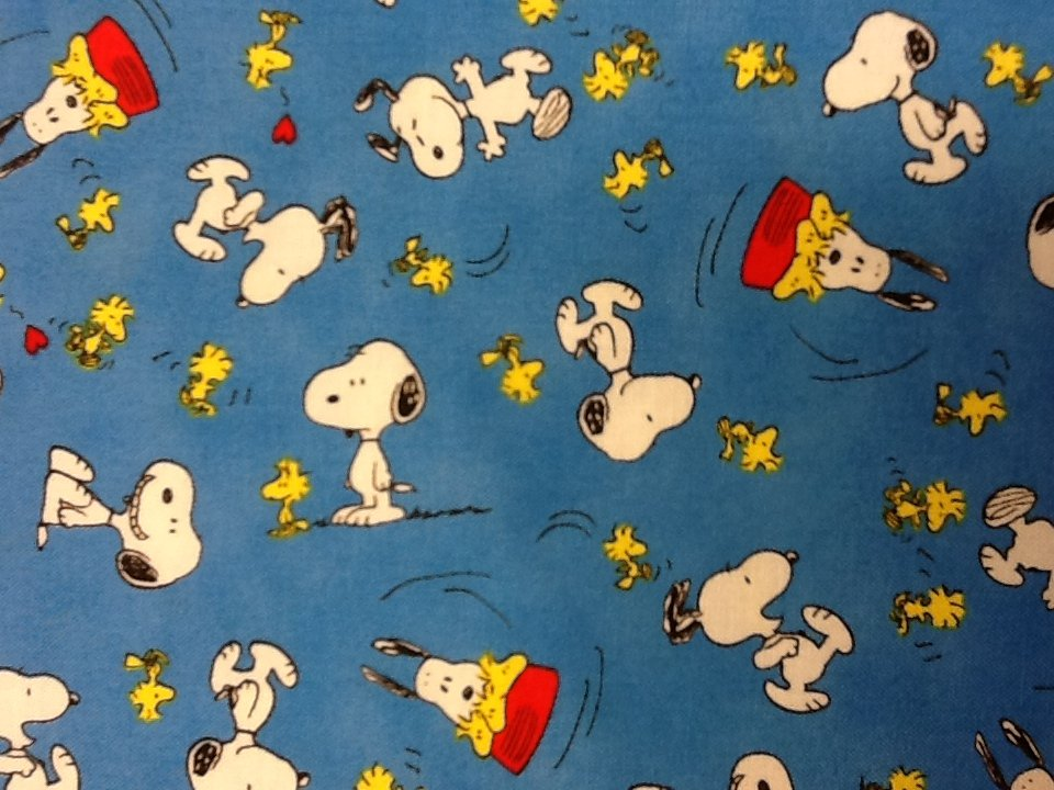 Peanuts Charles Schultz  Snoopy Woodstock Cotton Fabric Quilt Fabric CS257