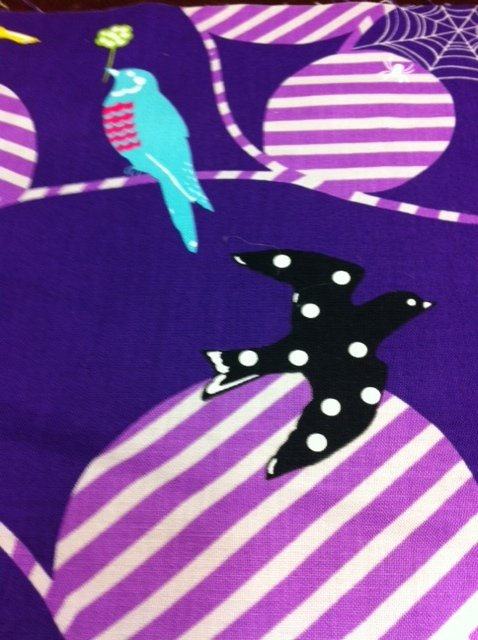 Echino Kokka Japan Geometric Retro Modern Birds Spider Web Graphic Print Cotton Quilt Fabric Kawaii CS266