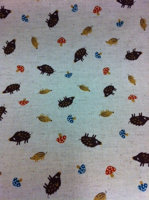Echino Kokka Japan Kawaii Cute Pigs Boars Hedghog Small Scale Heavy Weight Cotton Fabric Quilt Fabric SALE! $22/yd CS270