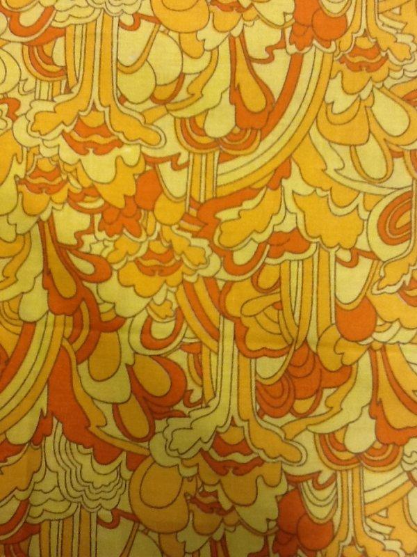 Beatles Yellow Submarine Retro Graphic Print Yellow Beatles Collection Cotton Fabric Quilting Fabric CS317