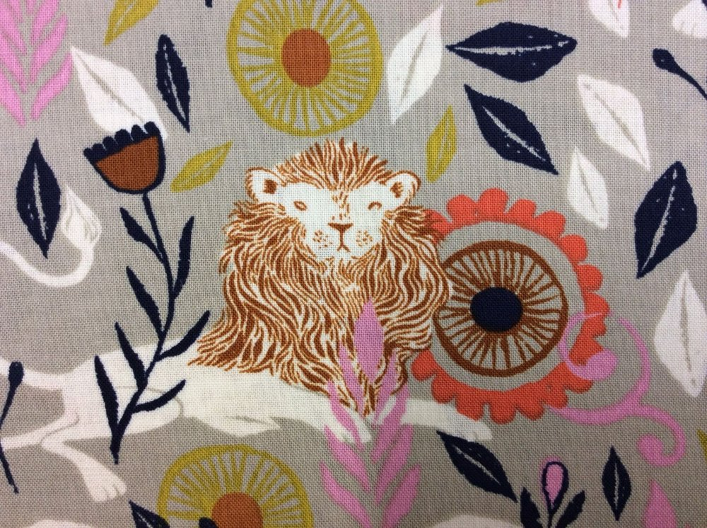 Cotton + Steel Lions Reclining Mane Wild Floral Flowers Cotton Fabric Quilt Fabric CTN06