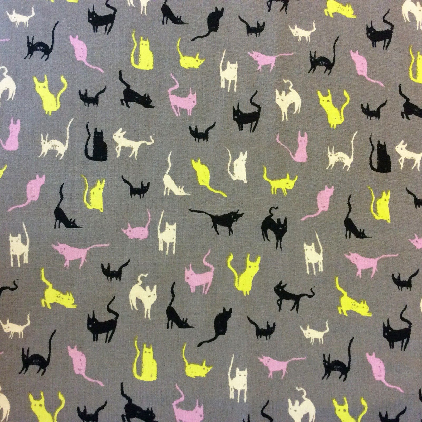 COTTON + STEEL Cats and Kittens Kitties Kitty Pet Home Animal Cute Cotton Quilting Fabric CTN57