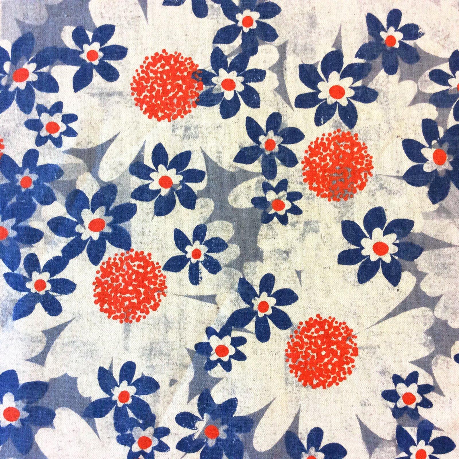 CTN72 Cotton + Steel July Daisy Canvas Floral Garden Flower Cotton Quilt Fabric