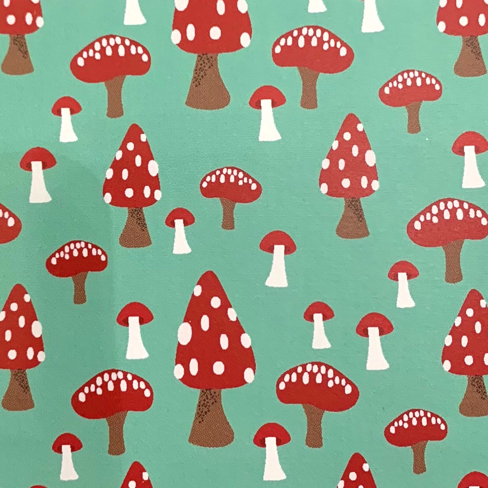 COMING SOON! Mushrooms a Retro Scandinavian Style Cotton Quilt Fabric