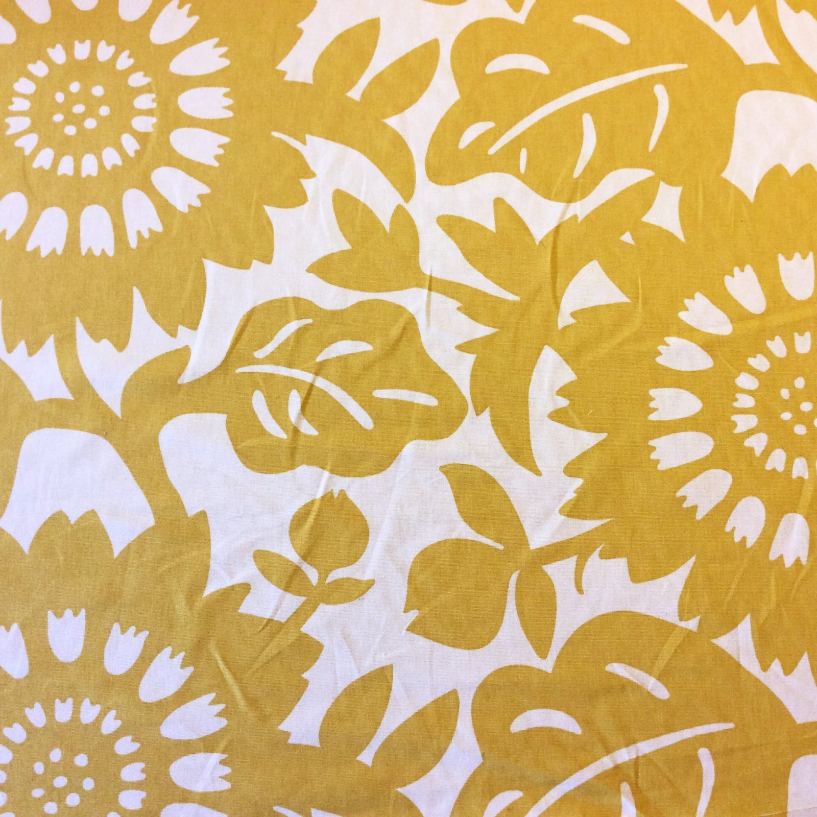 Thomas Paul Scandinavian Modern Floral Graphic Silouhette Large Scale Bold Heavy Cotton Fabric Sungold DSO134 R/O