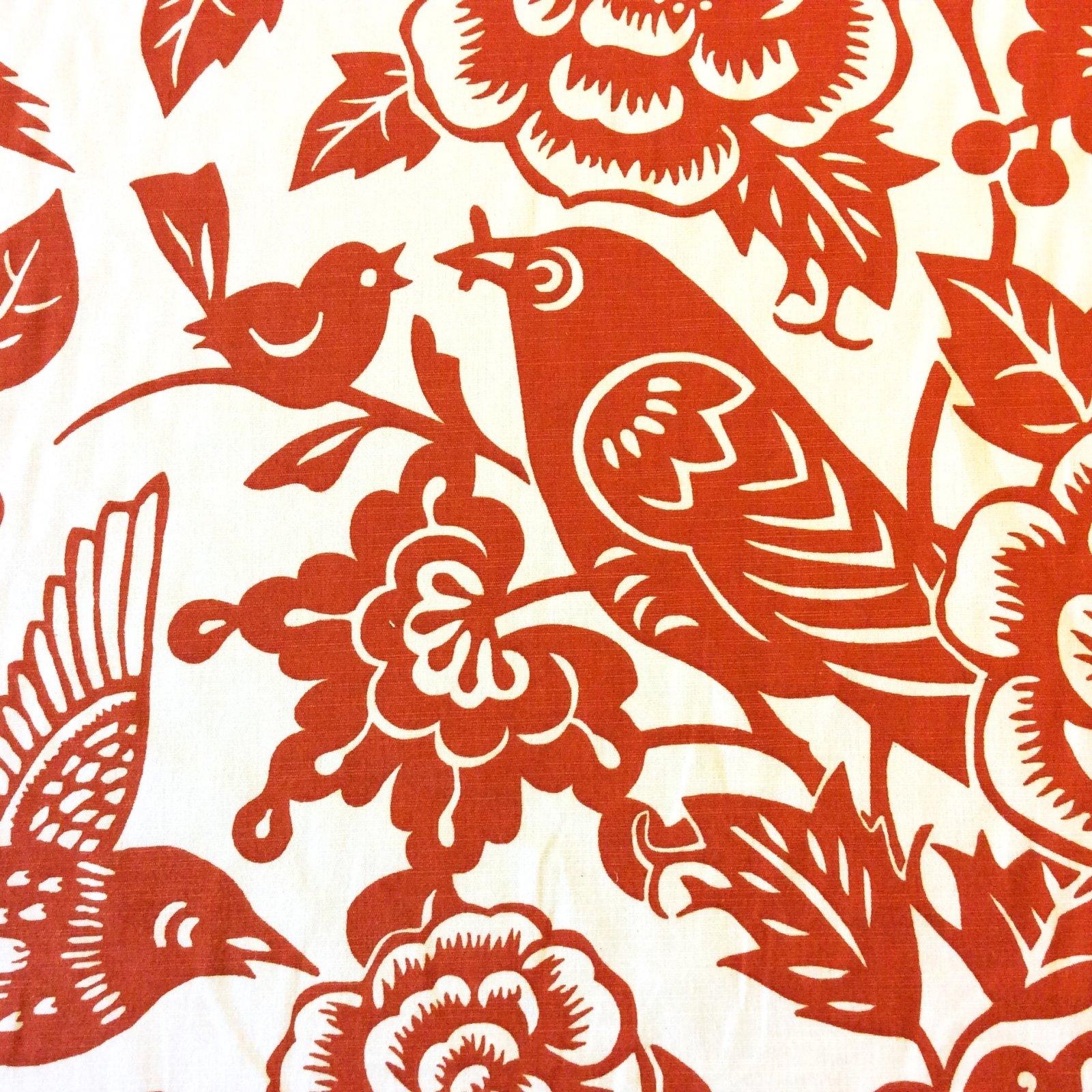 Thomas Paul Modern Graphic Silouhette Print Bird Floral Woodcut