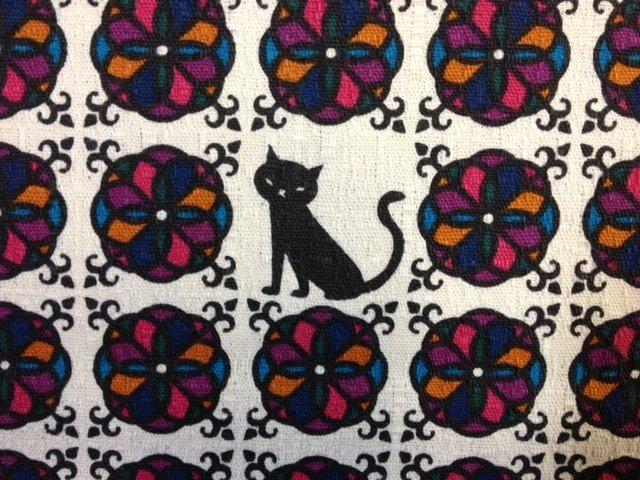 Echino Kokka Japanese Kitty Cat Kawaii Nekko Asia Cotton Fabric Quilting Fabric 343