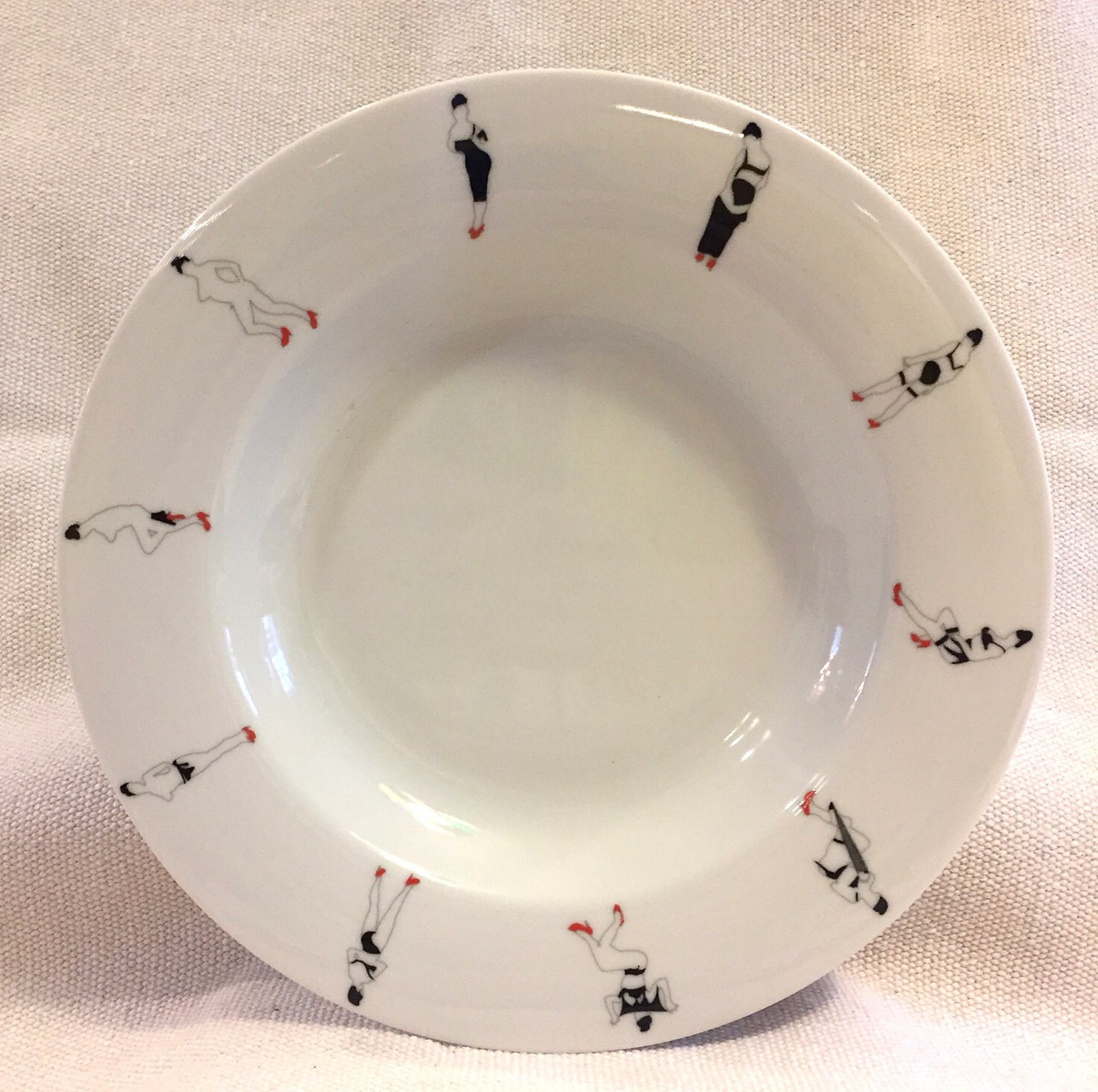 Marco Lodola Stripper Dancer Zeitler Francis Germany 1998 Porcelain Dish Plate