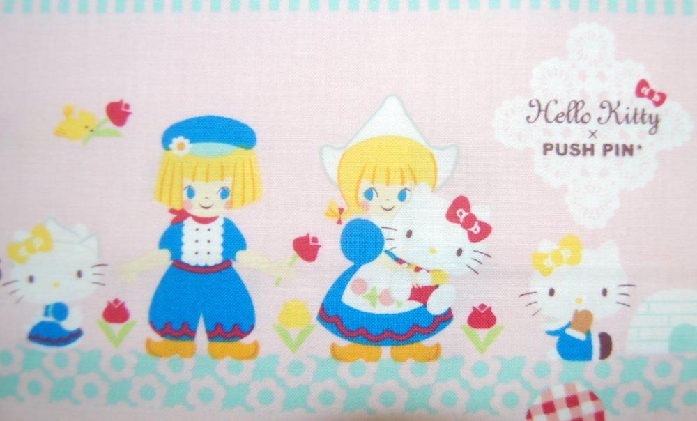 EK20 Hello Kitty Push Pin Kids World Travel Kokka Quilting Cotton Quilt Fabric