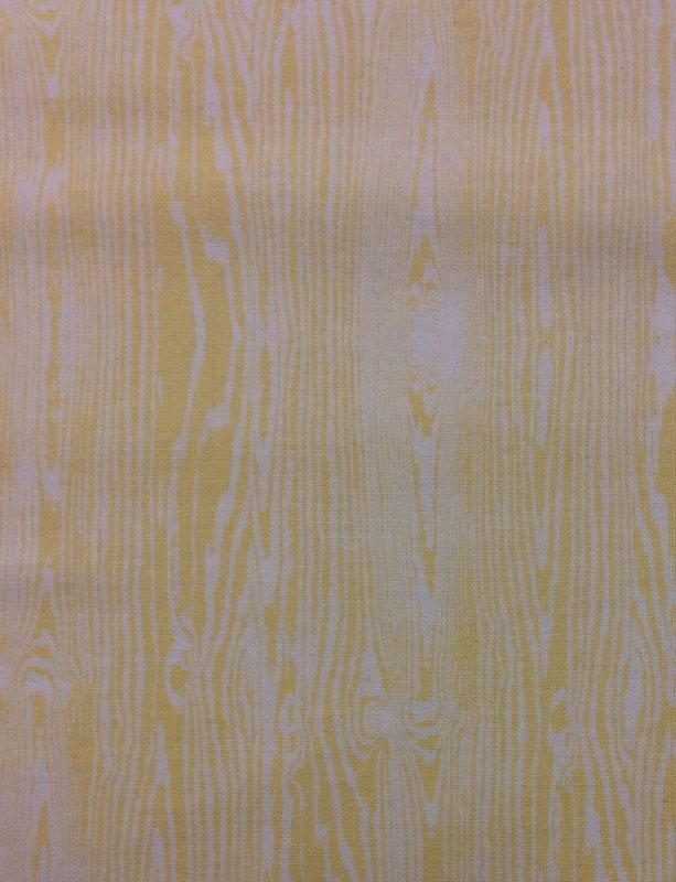 Wood Grain Yellow White Faux Bois Retro Modern Cotton Quilt Fabric ff14
