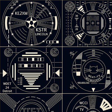 COMING SOON!  Circuitry Schematics Electronic Frequency Radio Waves Cotton Quilt Fabric