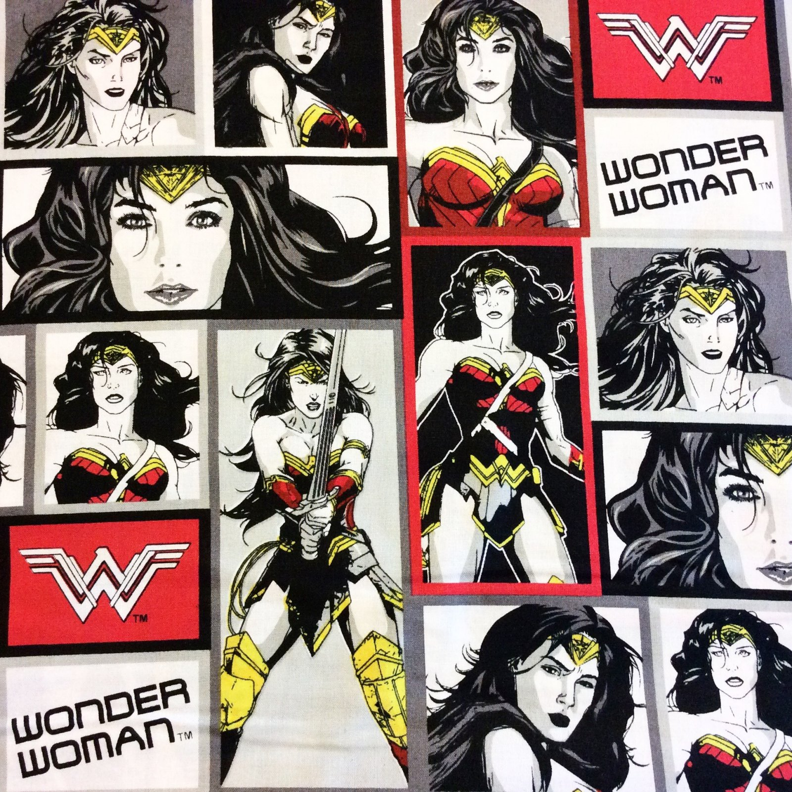 Wonder Woman FT114 DC Comics Justice League Superhero Comic Power Cotton Quilt Fabric