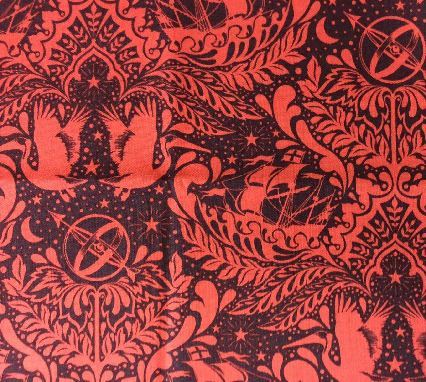 TULA PINK Royal Elizabeth Floral Goth Steampunk Cotton Quilting Fabric FT51