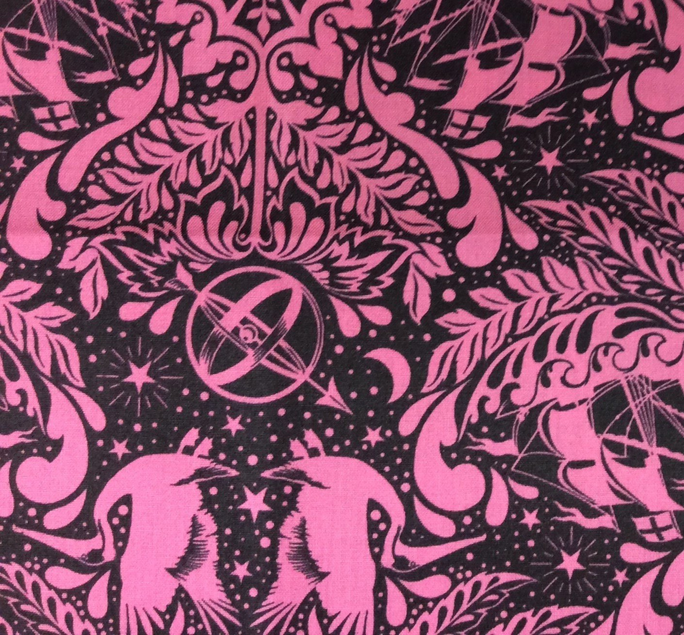 TULA PINK Royal Elizabeth Floral Goth Steampunk Cotton Quilting Fabric FT53