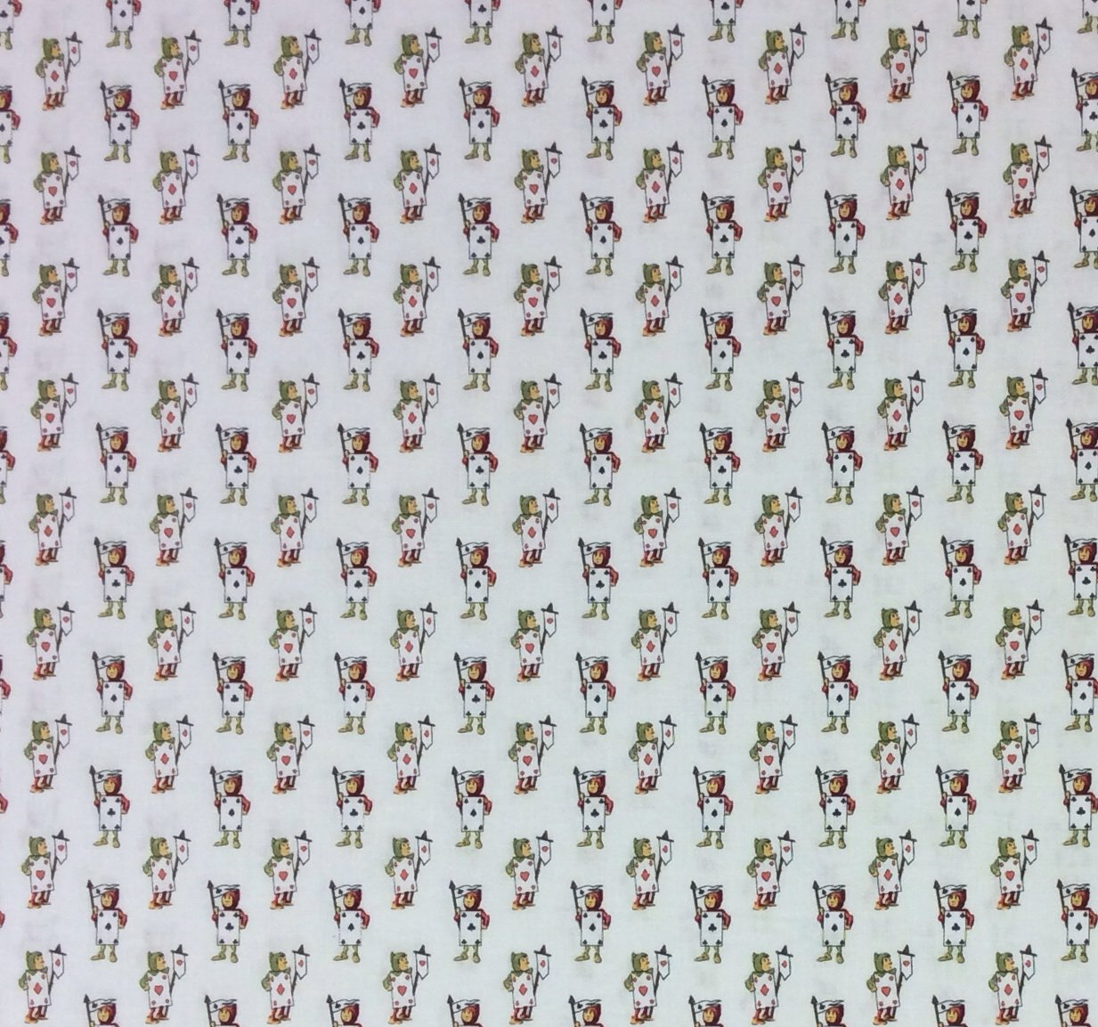 Alice In Wonderland FT59  Playing Cards Queen Of Hearts Quilting Cotton Fabric