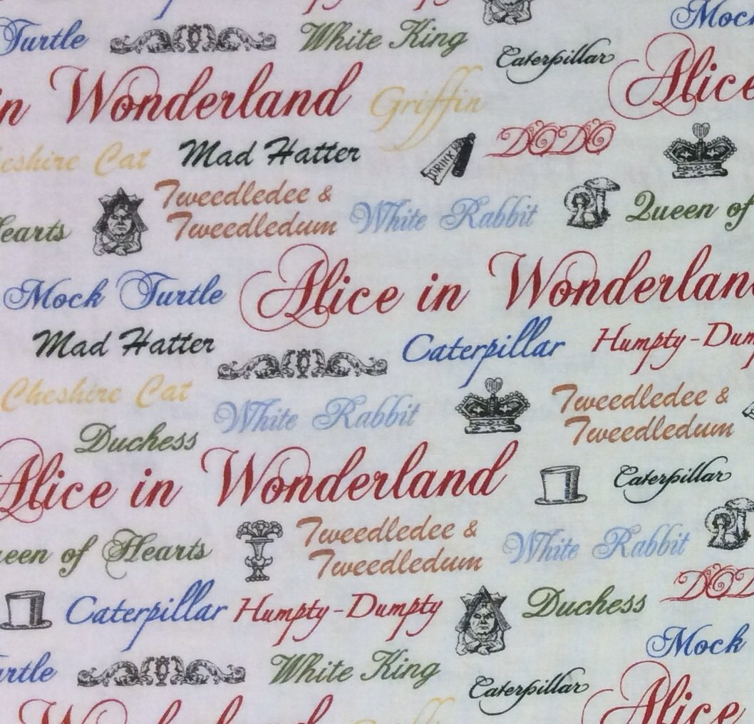 Alice in Wonderland Carroll Quilt Cotton Fabric P170 FT60