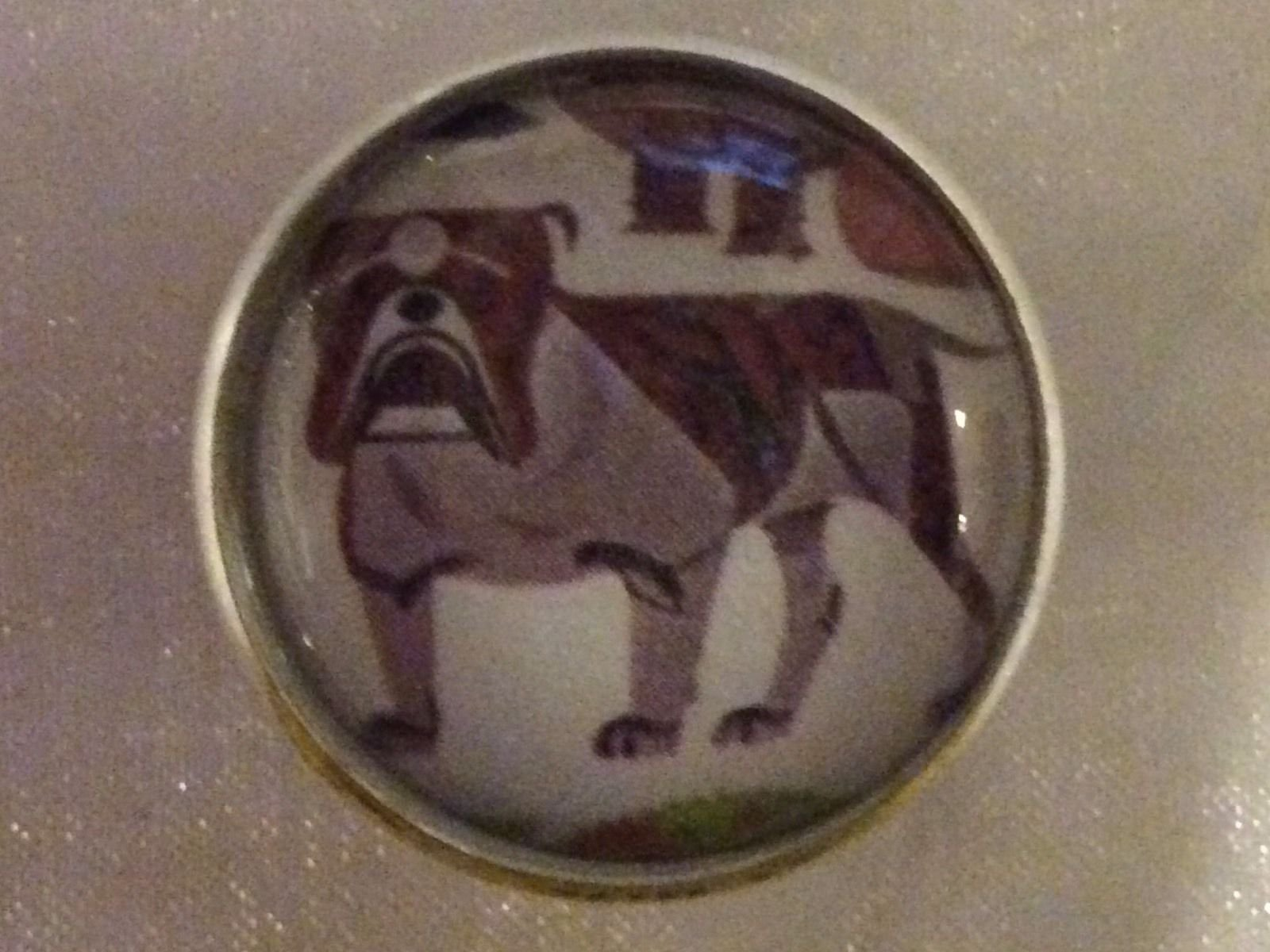 Charley Harper Bulldog Puppy Dog Sewing Button 1 Mid Century Mod Charles HA102