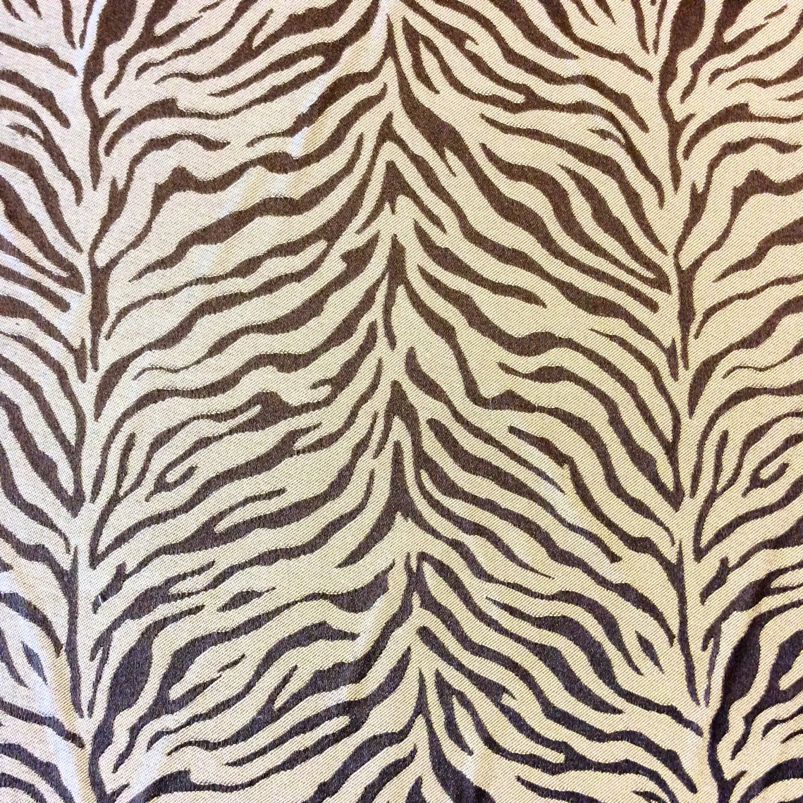 HD39 Brown Zebra Silky Drapery Animal Print Africa Upholstery Home Decor Fabric