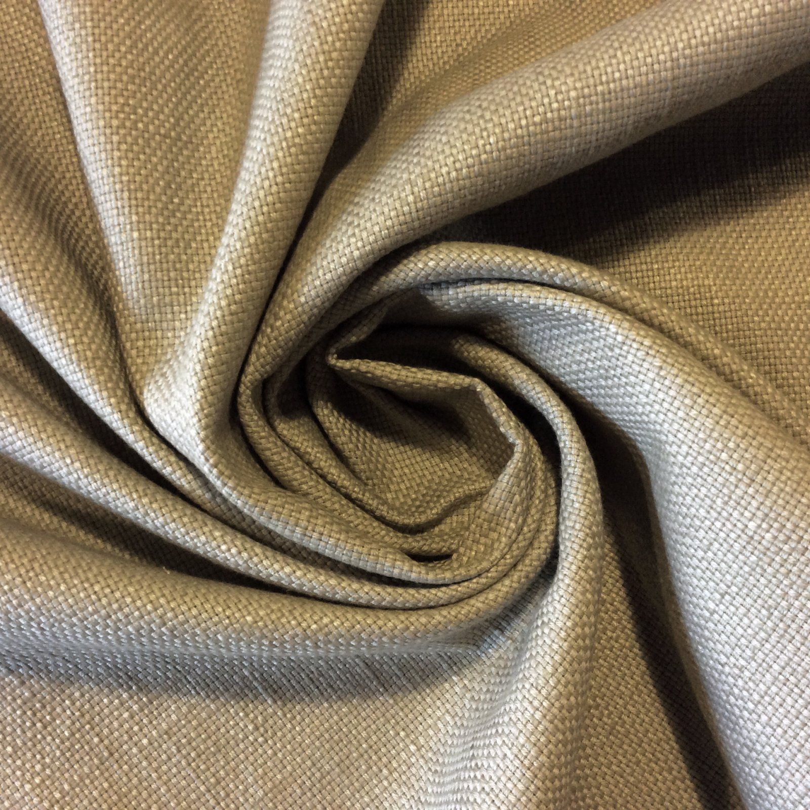 HD803 Desert Sand Heavy Textured Barkcloth Style Retro Look Solid Cotton Fabric Drapery Upholstery