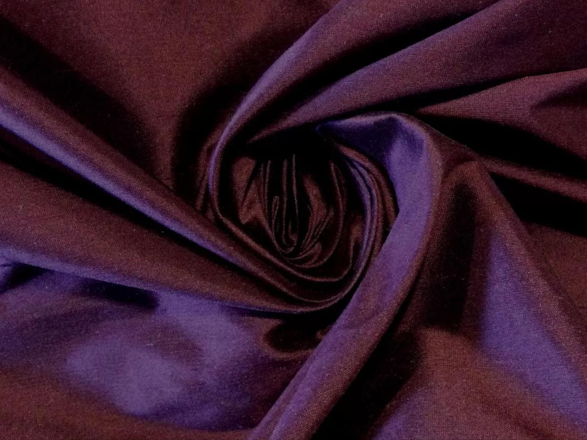 CLARENCE HOUSE Changeant Purple Raj Changeant 100% Silk Fabric CLA210