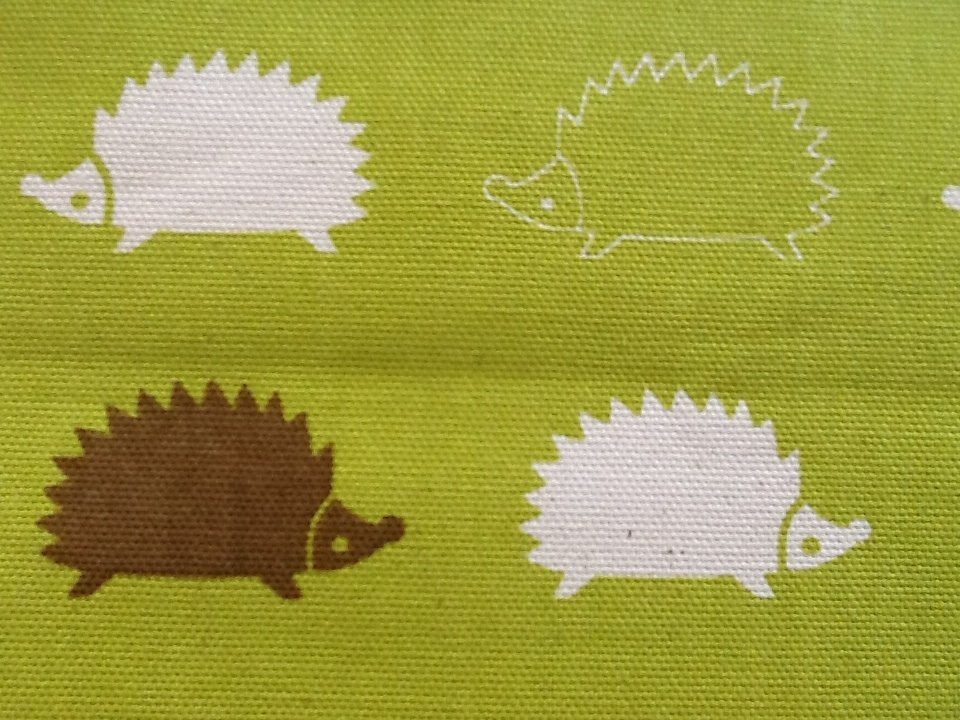 Cosmo Japanese Asian Heavy Weight Cotton Canvas Fabric Hedgehog Critters cotton fabric CR452