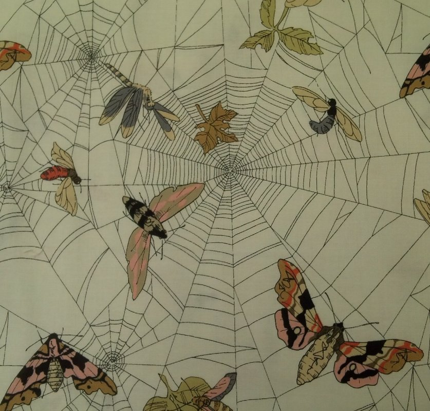 Ghastlies Ghastlie Web Gorey Style Artwork Creepy Family Alexander Henry Cotton Fabric Quilt Fabric CR520