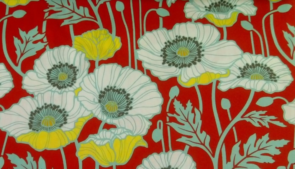 Joel Dewberry Notting Hill Pristine Poppy Retro Modern Flower Cotton Fabric Quilt Fabric CR496