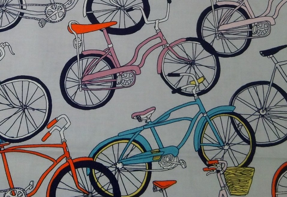 Bicycle Retro Schwinn Banana Seat Bike Cotton Fabric Quilt Fabric