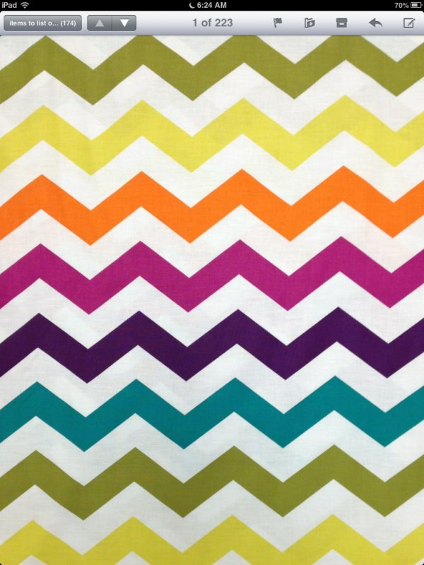 Chevron Zig Zag Rainbow Modern Quilt Fabric Cotton Fabric CS312