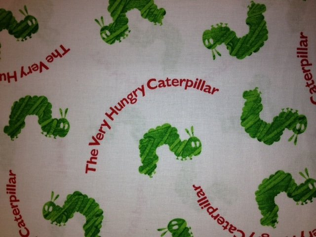Eric Carle Very Hungry Caterpillar Retro Caldecott Book Cotton Fabric Aquila Fabric AN35