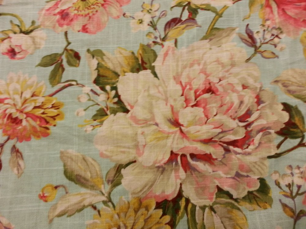 English Garden Shabby Chic Style French Country Linen Fabric Drapery