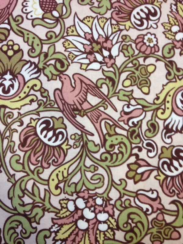 Intrigue Fl Pattern Bird William Morris Style Arts And Crafts Cotton Fabric Quilt L60