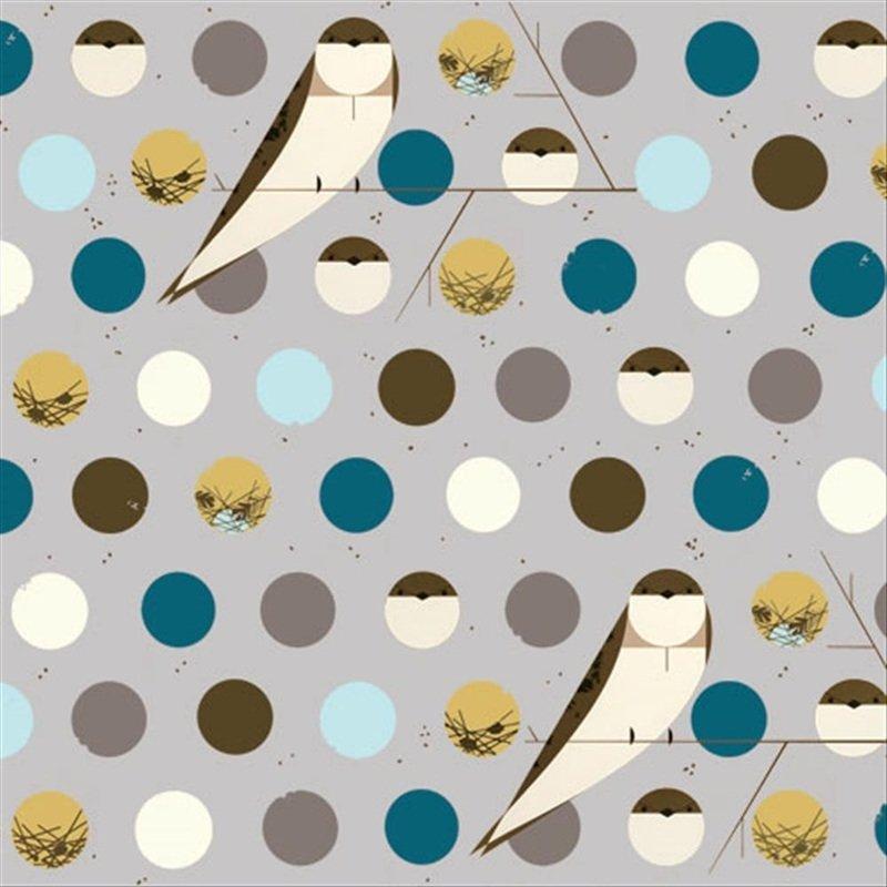 Charley Harper Bank Swallow Bird Mid Century Modern Charles Harper ... : organic cotton quilt fabric - Adamdwight.com